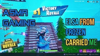 ASMR Gaming | Fortnite Rare Glimmer Skin Subscriber Carried Me 🎮🎧Controller Sounds + Whispering😴💤