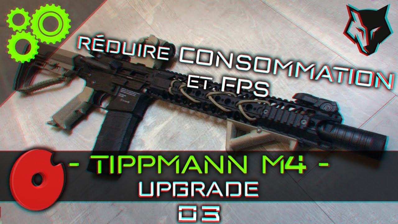 Tippmann M4 Upgrade #03 - Réduire consommation et FPS ► AIRSOFT