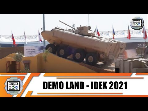 IDEX 2021 Live Land Demontration  tactical & combat armored vehicles Abu Dhabi United Arab Emirates