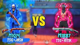 FREEFIRE || TSG•JASH  X TSG•RITIK || M1014 VS M1887 || ONLY HEADSHOT VERSUS IN CUSTOM ROOM || #TSG