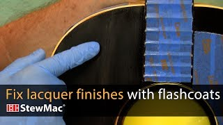 Watch the Trade Secrets Video, How to blend new lacquer into old using flash coats
