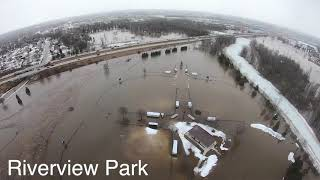 Green Bay Floods March 15, 2019 (Drone Footage)
