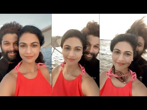 Icon star Allu Arjun's 'Titanic' moment with wife Sneha Reddy in Maldives vacation