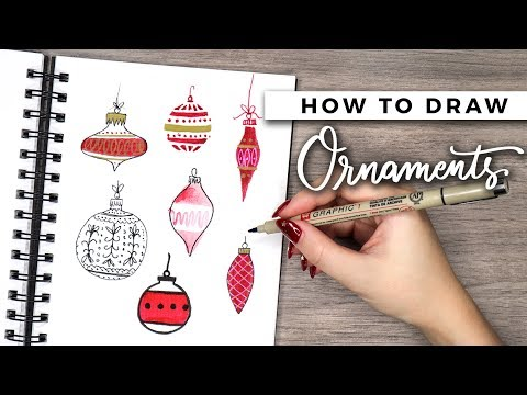 How to Draw Christmas Ornaments! | DOODLE WITH ME + Tutorial!