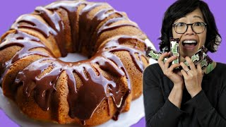 MILKY WAY Bar Swirl CAKE with Milky Way Glaze - Retro Recipe-from-the-back-of-box Test