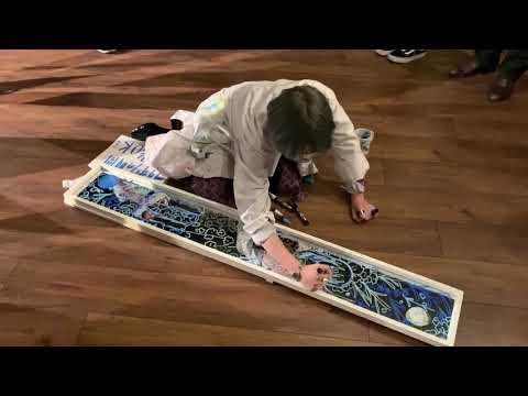 フクザワ個展「OLのもっちゃんの部屋」展 2日目 ライブペイント (2019.11.19)