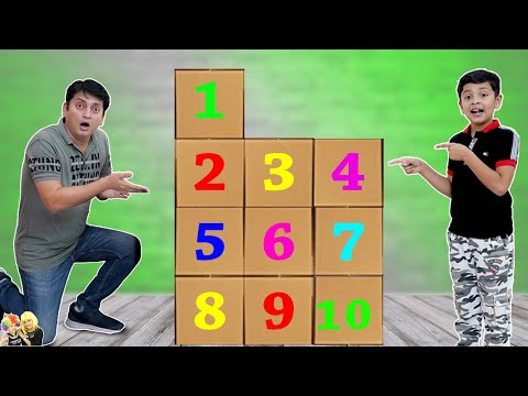 1 to 10 SURPRISE CHALLENGE   AAYU VS PAPA   Funny challenge for kids   Aayu and Pihu Show