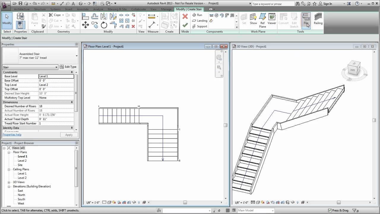 Autodesk Revit Creating A Custom Stair Youtube