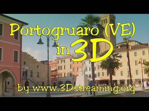 Portogruaro in 3D Full SBS by 3Dstreaming (YT3D) prov.Venezia