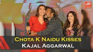Chota K Naidu Kisses Kajal Aggarwal On Stage; Controversy ..