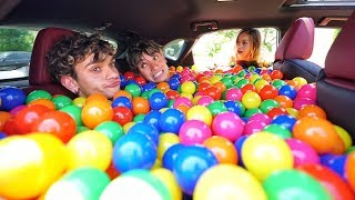 BALL PIT PRANK IN MY GIRLFRIEND'S CAR!