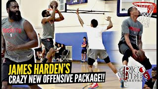 James Harden Bust Out CRAZY NEW MOVES at Rico Hines Runs!! Scoring Package Looking NEXT LEVEL!!