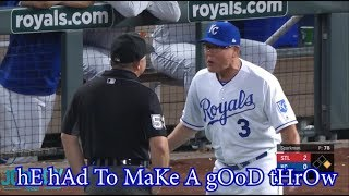 Ned Yost gets ejected for arguing an non interference call, a breakdown