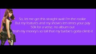 Nicki Minaj - Monster Verse Lyrics Video