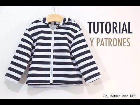 Costura Chaqueta para Niños (patrones gratis hasta talla 8 años)