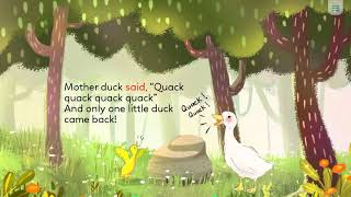 Five little ducks - D level - Monkey stories - Digital library - YouTube