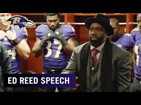 Ed Reed's Locker Room Speech To Team