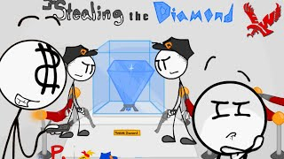Steal the Diamond Stickman Gameplay - 3 Way to Steal || Funny Animated Stickman Video Clip