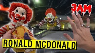 DO NOT GO TO MCDONALD'S AT 3AM CHALLENGE!! (RONALD MCDONALD CHASED US)