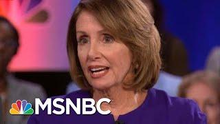 Nancy Pelosi Talks The Weight Of President Trump's Words At MSNBC Town Hall | Hallie Jackson | MSNBC