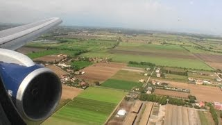 Welcome to Italy!!!  Gorgeous HD 767 Landing At Rome Fiumicino Airport!!!