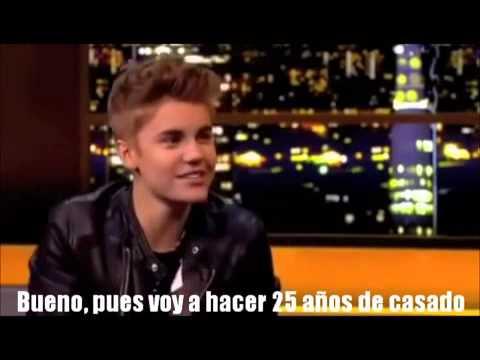 Para Beliebers y Jelenators: Justin Hablando Sobre Casarse con Selena(Subtitulado al Español)