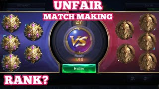 UNFAIR MATCH MAKING| IDEAS FOR IMPROVEMENT | MOBILE LEGENDS |