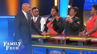 Please don't do THIS to Steve! | Family Feud