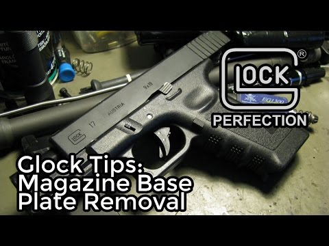 How to Remove Glock Magazine Base Plate (and install Pierce Grip Extensions)