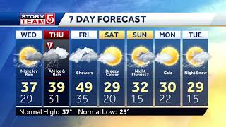 Video: Winter weather advisory day after record-high temperatures in Boston