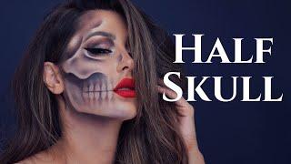Half Skull Halloween Tutorial- CHRISSPY