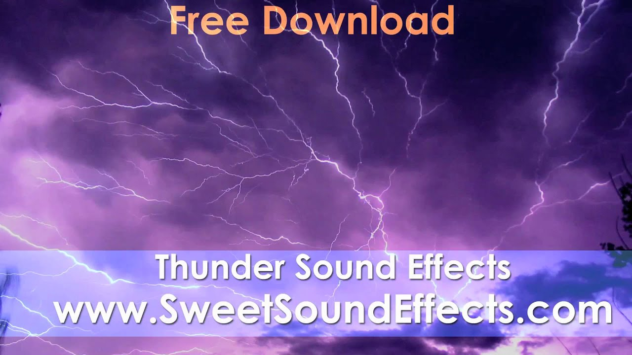 Download sound of rain and thunder
