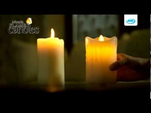 Jml Miracle Flame Candles Real Wax Flameless Led