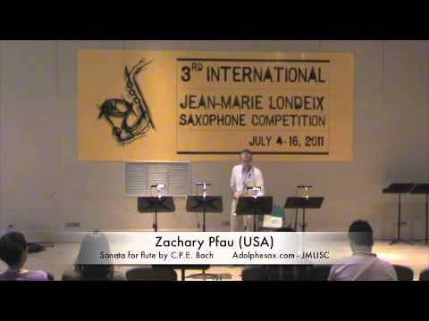 3rd JMLISC: Zachary Pfau (USA) Sonata for flute by C.P.E. Bach