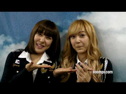 Tiffany and Jessica of Girls' Generation (SNSD) say HI to SOOMPI