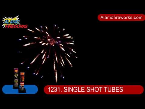 1231 Assorted Single Shot Tubes - Alamo Fireworks
