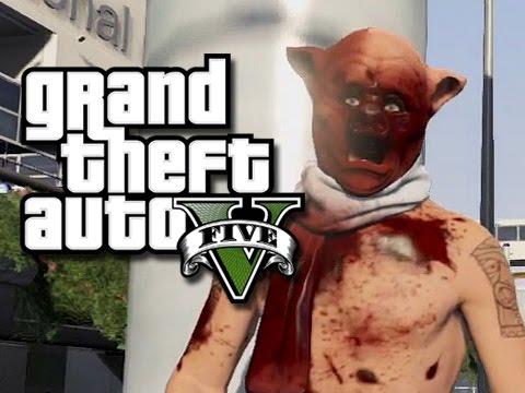 GTA 5 Online Funny Moments! - Burger Hunt!