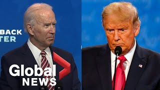 US election: Biden responds to Trump's backtrack on recognizing his win