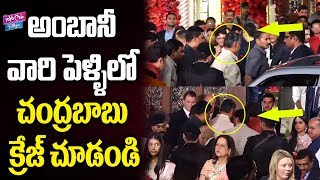 Watch: CM Chandrababu @ Isha Ambani Wedding..