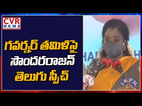 PV birth anniversary: Tamilisai delivers speech in Telugu after unveiling ex-PM's statue