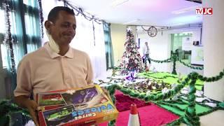 Paciente faz decoração natalina no Hospital do Câncer