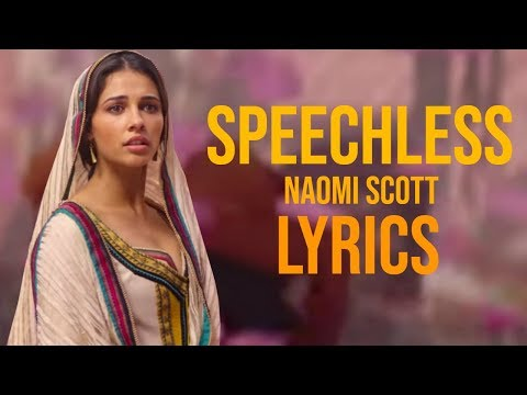 Naomi Scott - Speechless Lyrics (From Aladdin 2019)