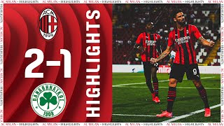 Highlights | Giroud does the double | AC Milan 2-1 Panathinakos