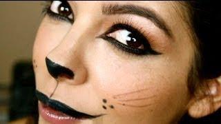 (EASY) Halloween Makeup Tutorial: Kitty Cat