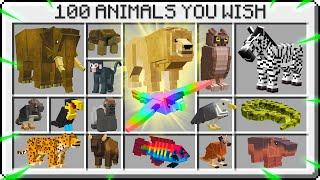 100 ANIMALS YOU WISH MINECRAFT ADDED!