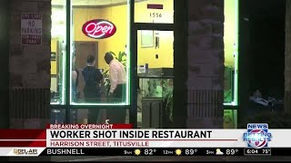 Restaurant worker shot during robbery