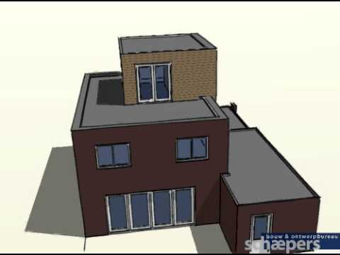 Schaepers Bouw & Ontwerpbureau; concept-ontwerp nieuwbouw woning Roombeek Enschede