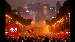 World Cup 2018: Paris celebrations turn violent on the Champs Elysees - BBC News