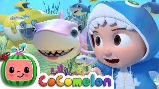 Baby Shark Submarine | CoCoMelon Nursery Rhymes & Kids Songs
