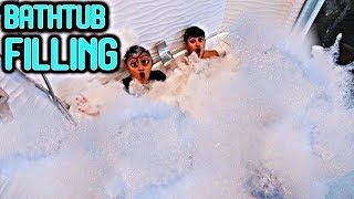 Filling Entire Bathroom with BUBBLES! (Bathtub Filling)